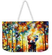 Under One Umbrella - Palette Knife Figures Oil Painting On Canvas By Leonid Afremov Weekender Tote Bag