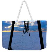 Under The Pier In St. Joseph At Sunset Weekender Tote Bag