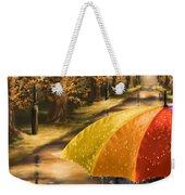 Under The Rain Weekender Tote Bag