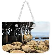 Under The Steinbeck Plaza Overlooking Monterey Bay On Monterey Cannery Row California 5d25050 Weekender Tote Bag