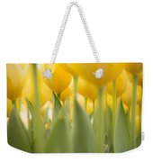 Under Yellow Tulips - 8x10 Format Weekender Tote Bag