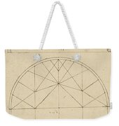 Underdrawing For Building Temporary Arch Weekender Tote Bag