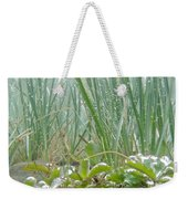 Underwater Shot Of Submerged Grass And Plants Weekender Tote Bag