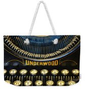 Underwood Typewriter Weekender Tote Bag