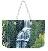 109008-undine Falls In Yellowstone Weekender Tote Bag
