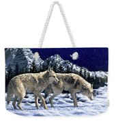 Wolves - Unfamiliar Territory Weekender Tote Bag by Crista Forest