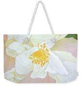 Unfurling White Hibiscus Weekender Tote Bag
