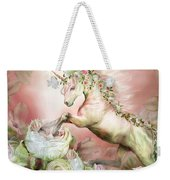 Unicorn And A Rose Weekender Tote Bag