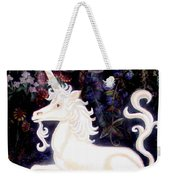 Unicorn Floral Weekender Tote Bag by Genevieve Esson