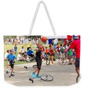 Unicyclist - Basketball - Street Rules  Weekender Tote Bag