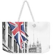 Union Jack Weekender Tote Bag by Nancy Ingersoll