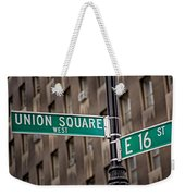 Union Square West I Weekender Tote Bag by Susan Candelario