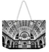 Union Station Lobby Black And White Weekender Tote Bag
