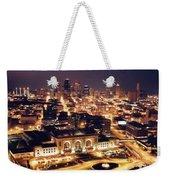 Union Station Night Weekender Tote Bag by Crystal Nederman