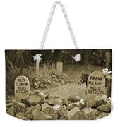 Unique Cemetery Image Weekender Tote Bag