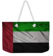 United Arab Emirates Flag Waving On Canvas Weekender Tote Bag