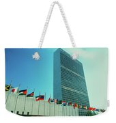 United Nations Building With Flags Weekender Tote Bag