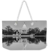 United States Capitol Building Bw Weekender Tote Bag by Susan Candelario