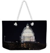 United States Capitol Dome Scaffolding At Night Weekender Tote Bag