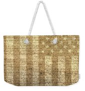 United States Declaration Of Independence Weekender Tote Bag