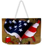 United States Map  Weekender Tote Bag by Marvin Blaine