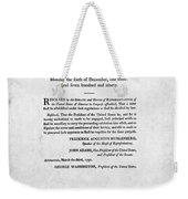 United States Mint, 1792 Weekender Tote Bag