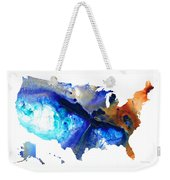 United States Of America Map 7 - Colorful Usa Weekender Tote Bag