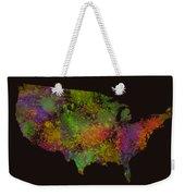 Unites States Watercolor Map Weekender Tote Bag