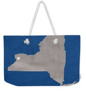 University At Buffalo New York Bulls College Town State Map Poster Series No 022 Weekender Tote Bag