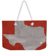 University Of Houston Cougars Texas College Town State Map Poster Series No 045 Weekender Tote Bag