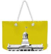 University Of Iowa - Mustard Yellow Weekender Tote Bag