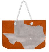 University Of Texas Longhorns Austin College Town State Map Poster Series No 105 Weekender Tote Bag