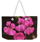 Pink Geranium Flower Weekender Tote Bag
