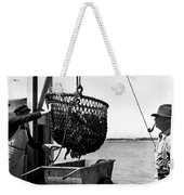 Unloading Fish From Monterey's Wharf Two Circa 1950  Weekender Tote Bag
