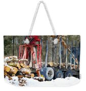 Unloading Of Logs On Transport Weekender Tote Bag