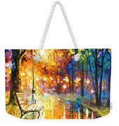 Unresolved Feelings - Palette Knife Oil Painting On Canvas By Leonid Afremov Weekender Tote Bag