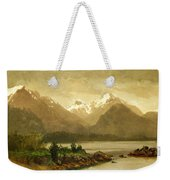 Untitled Mountains And Lake Weekender Tote Bag