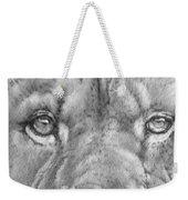 Up Close Lion Weekender Tote Bag