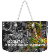 Up Down And Around Quote Weekender Tote Bag