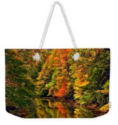 Up The Lazy River Painted Weekender Tote Bag