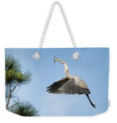 Up To The Nest Weekender Tote Bag by Deborah Benoit