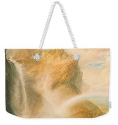 Upper Fall Of The Reichenbach - Rainbow Weekender Tote Bag