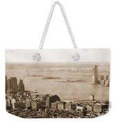 Upper New York Bay Vintage Weekender Tote Bag