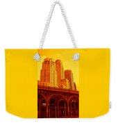Upper West Side And Hudson River Manhattan Weekender Tote Bag
