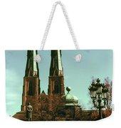 Uppsala Cathedral Steeples Weekender Tote Bag
