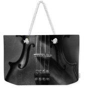 Upright Violin Bw Weekender Tote Bag