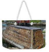 Upside Down Boat In Peggy's Cove Harbour Weekender Tote Bag