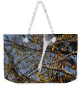 Upside Down Egret Weekender Tote Bag