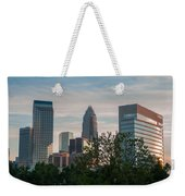 Uptown Charlotte North Carolina Cityscape Weekender Tote Bag