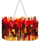 Urban Abstract Glowing City Weekender Tote Bag